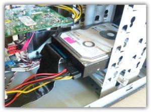 Замена/установка жесткого диска на компьютер