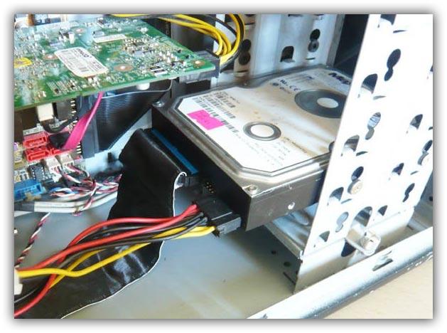 Замена жесткого диска HDD
